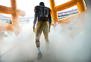 Washington Redskins quarterback Robert Griffin III prepares to take the field prior to the Redskins game against the Baltimore Ravens at FedEx Field in Landover, Maryland.