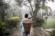 Mawlynnong is known for its cleanliness is located around 90 kms from Shillong and is a community based eco-tourism initiative. The community has made collective effort to maintain the ambience of a clean village Local cleaning the roads, picking up leaves and throwing garbage in the bin is a very common sight. Bamboo garbage bins adorn every nook and corner of the village highlight the consciousness of cleanliness among the villagers. Cleanliness is an age old tradition and a way of life for all villagers. <br /> @Giulio Di Sturco