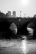 France. Paris.  the Seine river at the Quai des grands Augustins/ La Seine a la hauteur du Quai des grands Augustins