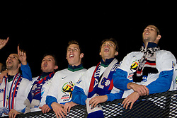 Dalibor Stevanovic, Andraz Kirm, Valter Birsa, Zlatko Dedic and Bostjan Cesar of Slovenia  celebrate after  FIFA World Cup South Africa 2010 Qualifying Second Play off match between Slovenia and Russia, on November 18, 2009, in Stadium Ljudski vrt, Maribor, Slovenia. Slovenia won 1:0 and qualified for the FIFA World Championships 2010. (Photo by Vid Ponikvar / Sportida)