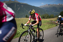 Doris Schweizer (SUI) of Cylance Pro Cycling  rides up the Mortirolo during of the Giro Rosa 2016 - Stage 5. A 77.5 km road race from Grosio to Tirano, Italy on July 6th 2016.