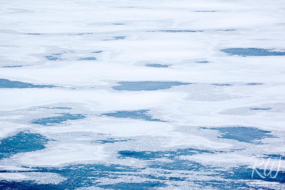 Frozen Surface of Yellowstone Lake, Yellowstone National Park, Wyoming