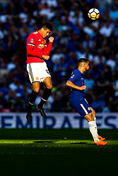 Chris Smalling of Manchester United is challenged by Eden Hazard of Chelsea - Rogan/JMP - 19/05/2018 - FOOTBALL - Wembley Stadium - London, England - Chelsea v Manchester United - FA Cup Final.