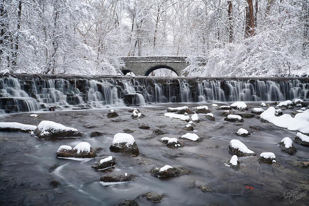 Walking through a winter wonderland.