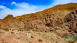 Rock formations bear the village of Imzzoudar in the Dades Valley, Morocco<br /> <br /> (c) Andrew Wilson | Edinburgh Elite media