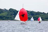 _V0A8086. ©2014 Chip Riegel / www.chipriegel.com. The 2014 Bullseye Class National Regatta, Fishers Island, NY, USA, 07/19/2014. The Bullseye is a Nathaniel Herreshoff designed 15' Marconi rig sailing boat.