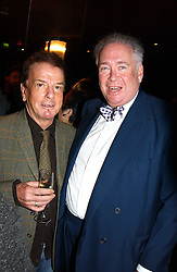 Left to right, NICKY HASLAM and LORD HESKETH at a fund raising dinner hosted by Marco Pierre White and Frankie Dettori's in aid of Conservative Party's General Election Campaign Fund held at Frankie's No.3 Yeoman's Row,æLondon SW3 on 17th January 2005.<br /><br />NON EXCLUSIVE - WORLD RIGHTS
