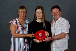NEWPORT, WALES - Saturday, May 19, 2018: Layla Howells and family during the Football Association of Wales Under-16's Caps Presentation at the Celtic Manor Resort. (Pic by David Rawcliffe/Propaganda)