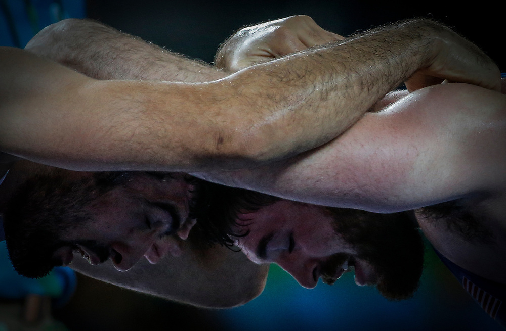in the men's Greco-Roman 85kg of the Rio 2016 Olympic Games Wrestling events at the Carioca Arena 2 in the Olympic Park in Rio de Janeiro, Brazil, 15 August 2016.