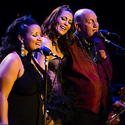 """""""Lady Creole"""", """"Frankie Minelli"""", and """"Big Daddy"""" perform with Vaud and the Villains at The Music Hall in Portsmouth, NH. July 2012."""