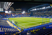 General view inside the stadium during the EFL Cup 4th round match between Chelsea and Derby County at Stamford Bridge, London, England on 31 October 2018.