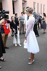 AU_1391515 - Melbourne, AUSTRALIA  -  AAMI Victoria Derby Day celebrities and VIPs in the Birdcage.<br /> <br /> Pictured: James Magnussen and Rose McEvoy<br /> <br /> BACKGRID Australia 3 NOVEMBER 2018 <br /> <br /> BYLINE MUST READ: Richard Milnes / BACKGRID<br /> <br /> Phone: + 61 2 8719 0598<br /> Email:  photos@backgrid.com.au