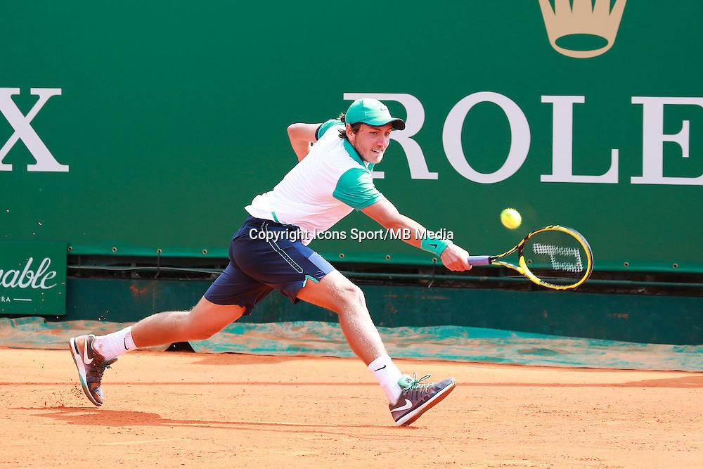 Lucas Pouille - 14.04.2015 - Tournoi de Monte Carlo - Masters 1000 -<br />Photo : Serge Haouzi / Icon Sport