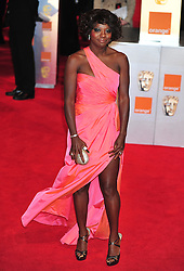 © Licensed to London News Pictures. 12/02/2012. London, England. Viola Davis arrives for the Orange British Academy Film Awards at The Royal Opera House on February 12, 2012 in London, England. Photo credit : ALAN ROXBOROUGH/LNP