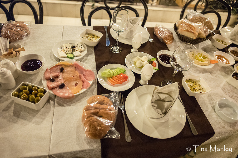 Breakfast at 4:30 AM at the Beit Al-Wali Hotel.