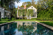 Renovated historic home of Shamgar H. Slate, a whaling captain, on Main St, Sag Harbor, NY