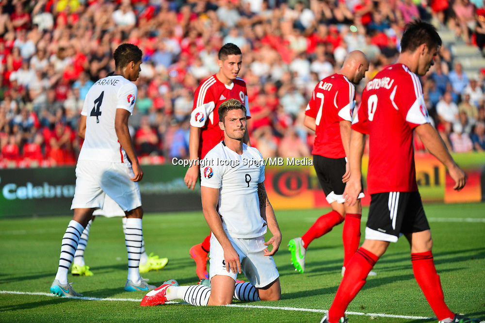 Deception Olivier GIROUD - 13.06.2015 - Albanie / France - Match Amical - Tirana<br />