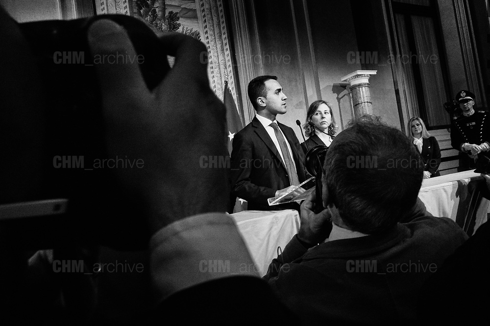 Luigi Di Maio after a meeting with Italian President Sergio Mattarella during the consultations of political parties at the Quirinale palace in Rome on 12 April 2018. Christian Mantuano / OneShot