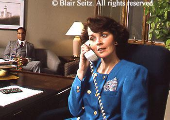 female, executives, managers cord phone female executive portrait