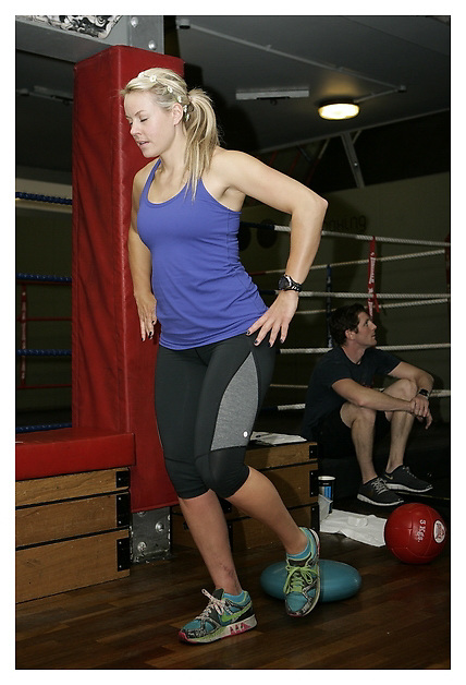 british Ski champion Chemmy Alcott interview and photos for Muscle & Fitness magazine. 17-5-2011.