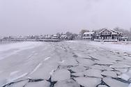 Orient Shoreline Winter, Long Island, New York, USA