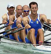 2003 - FISA World Cup Rowing Milan Italy.30/05/2003  - Photo Peter Spurrier.ITA M4X - .Agostino Abbagnale, Simone Raineri,  Rossano Galtarossa and Alessio Sartori [Mandatory Credit: Peter Spurrier:Intersport Images]