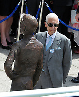 Flat Horse Racing - 2019 Investec Derby Festival - Saturday, Day Two (Derby Day)<br /> <br /> Lester Piggott at the unveiling of  his Bronze Statue of  at Epsom Racecourse.<br /> <br /> COLORSPORT/ANDREW COWIE