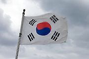 Korean natinal flag / Jeongdongjin, South Korea, Republic of Korea, KOR, 07 October 2009.