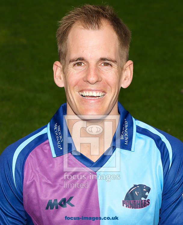 Neil Dexter pictured in the Royal London One Day Cup playing strip during Middlesex County Cricket Club Media Day at Lord's, London<br /> Picture by Alan Stanford/Focus Images Ltd +44 7915 056117<br /> 31/03/2014
