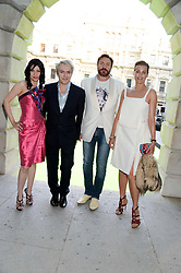 Left to right, NEFER SUVIO, NICK RHODES, SIMON LE BON and YASMIN LE BON at the preview party for The Royal Academy Of Arts Summer Exhibition 2013 at Royal Academy of Arts, London on 5th June 2013.