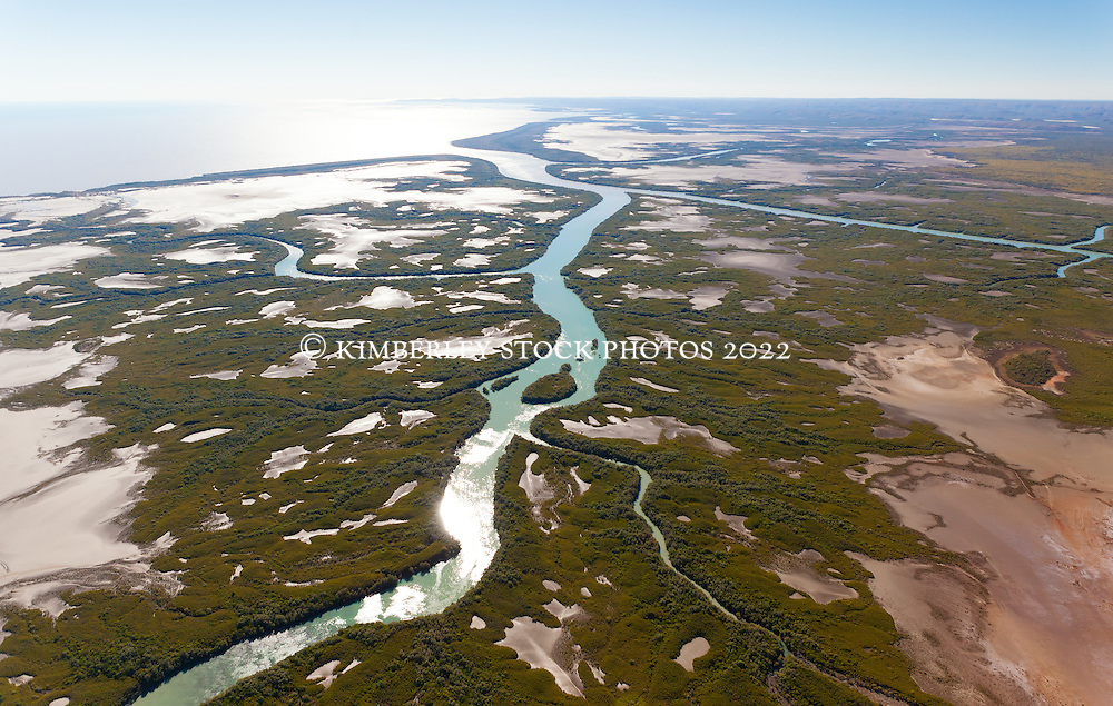 Aerial view over King Sound from Point Torment