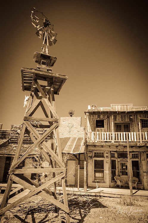 Old windmill and buildings, Tombstone, Arizona USA
