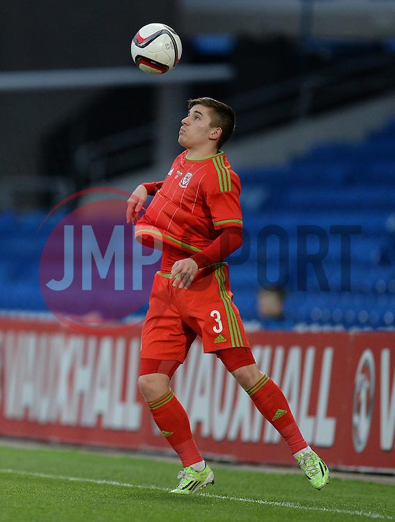 Declan John of Wales u21s (Cardiff City) - Photo mandatory by-line: Alex James/JMP - Mobile: 07966 386802 - 31/03/2015 - SPORT - Football - Cardiff - Cardiff City Stadium - Wales v Bulgaria - U21s International Friendly