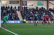 8th May 2018, Global Energy Stadium, Dingwall, Scotland; Scottish Premiership football, Ross County versus Dundee; Simon Murray of Dundee scores for 1-0