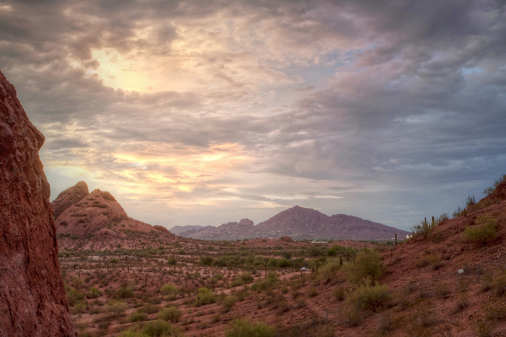 View of Camelback Mountain from Papago Park, Phoenix, Arizona