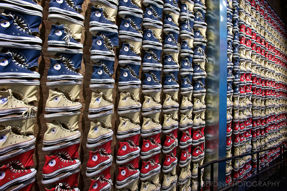 All Stars and Stripes. Converse store. Soho, Manhattan. New York City. USA.<br />