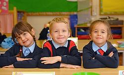 Junior infants Quay School, Fibbig Liam Sander, Pola Nowicka<br />Pic Conor McKeown