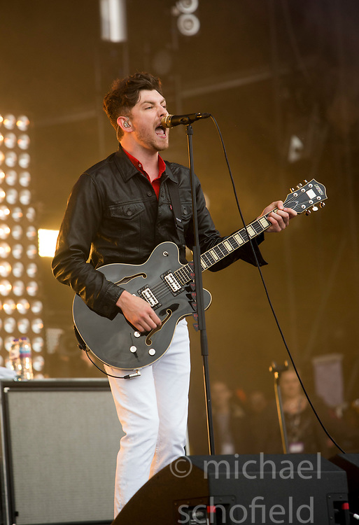 Twin Atlantic play the main stage on Sunday at the TRNSMT music festival, Glasgow Green.