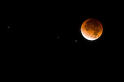 Lunar eclipse, Ventura, California USA