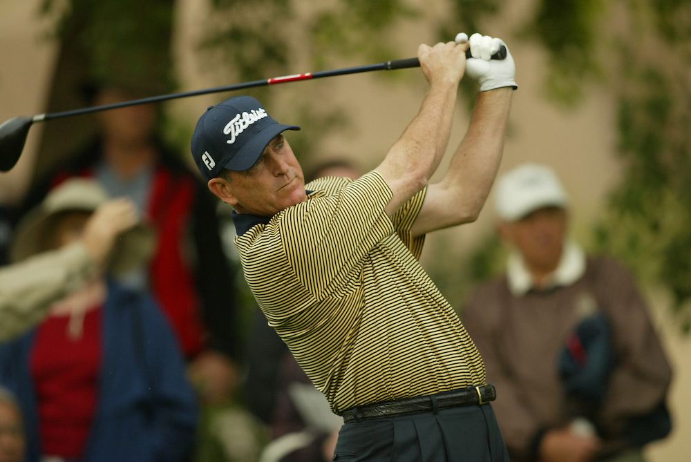 Jay Haas..2004 Bob Hope Chrysler Classic.Fourth Round.Bermuda Dunes CC.Saturday, January 24 2004..Photograph by Darren Carroll .