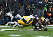 November 05, 2011: Iowa Hawkeyes wide receiver Keenan Davis (6) can't pull in a pass during the second quarter of the NCAA football game between the Michigan Wolverines and the Iowa Hawkeyes at Kinnick Stadium in Iowa City, Iowa on Saturday, November 5, 2011. Iowa defeated Michigan 24-16.
