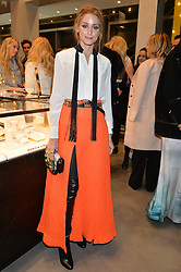 OLIVIA PALERMO at a party to celebrate the launch of the Monica Vinader London Flagship store at 71-72 Duke of York Square, London SW3 on 4th December 2014.