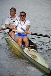 Rok Kolander and Tomaz Pirih at International competition in Bled, on April 22, 2006, Bled, Slovenia. (Photo by Vid Ponikvar / Sportal Images).