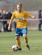 FODBOLD: Rasmus Lander (Ølstykke FC) under kampen i Serie 1 mellem Helsinge Fodbold og Ølstykke FC den 14. april 2018 på Helsinge Stadion. Foto: Claus Birch.