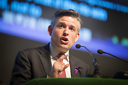 April 26, 2017 - London, London, UK - London, UK. Labour shadow health secretary JONATHAN ASHWORTH MP announces new NHS policies at BT Convention Centre, Kings Dock, Liverpool, ahead of a general election on June 8th. (Credit Image: © Andrew Mccaren/London News Pictures via ZUMA Wire)