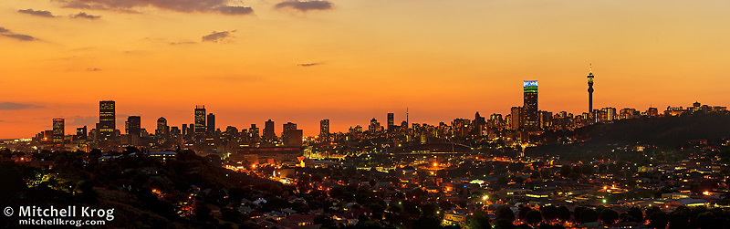 Panorama of jhb johannesburg city skyline at dusk mitchell krog panorama of jhb johannesburg city skyline at dusk thecheapjerseys Choice Image