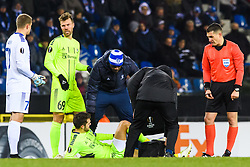 December 13, 2018 - Genk, BELGIUM - 181213 Joachim Thomassen of Sarpsborg 08 revives medical attention during the Europa League group stage match between Genk and Sarpsborg 08 on December 13, 2018 in Genk. .Photo: Fredrik Varfjell / BILDBYRN / kod FV / 150187. (Credit Image: © Fredrik Varfjell/Bildbyran via ZUMA Press)