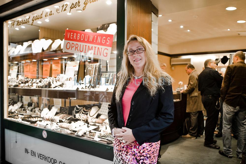 Maruschka Greven, eigenaar van de Goudshop in Den Haag en voorzitter van Ondernemersvereniging Pleinkwartier in Den Haag