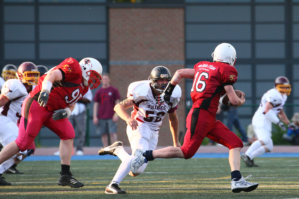 Belgian Bowl XXI : Tournai Phoenix - West Flanders Tribes. The Tribes won their 4th Belgian Bowl in a row (12-0).