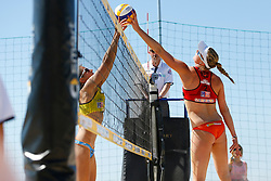 20140605 ITA: EK Beachvolleybal, Cagliari<br /> Chantal Laboureur, GER, Madelein Meppelink<br /> ©2014-FotoHoogendoorn.nl / Pim Waslander